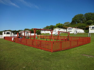 Children's Play Area. Glan Gors Holiday Park, Anglesey